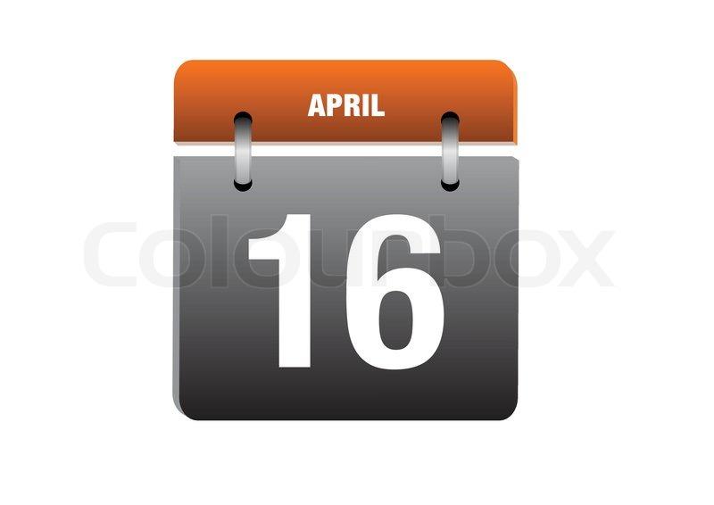 16 april calendar icon   Stock Vector   Colourbox