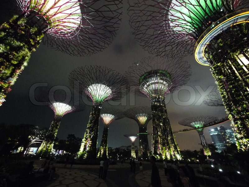 Night@Gardens by the Bay, stock photo