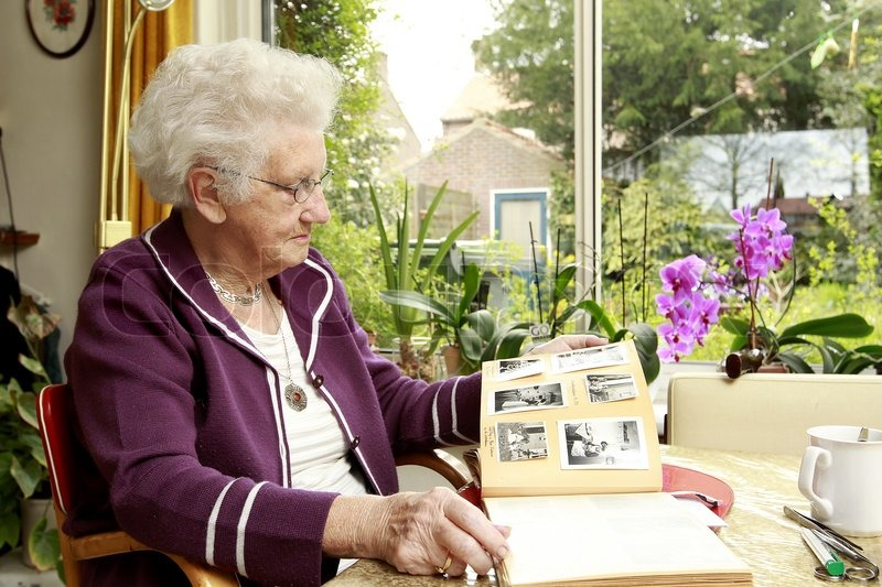 Old Lady Computer Editorial Image of 'old Lady