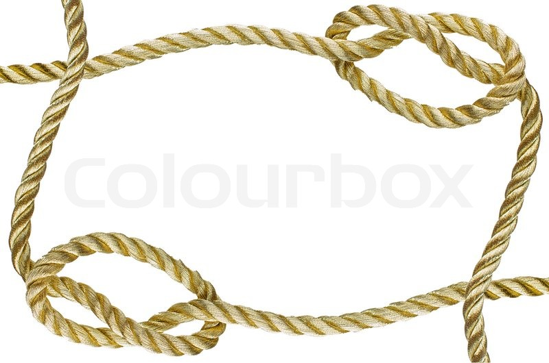 Decorative frame from a golden rope stock photo colourbox Rope photo frame