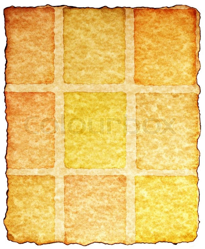 Paper with burned and torn edges, stock photo