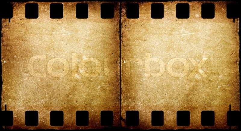 old 35 mm movie film stock photo
