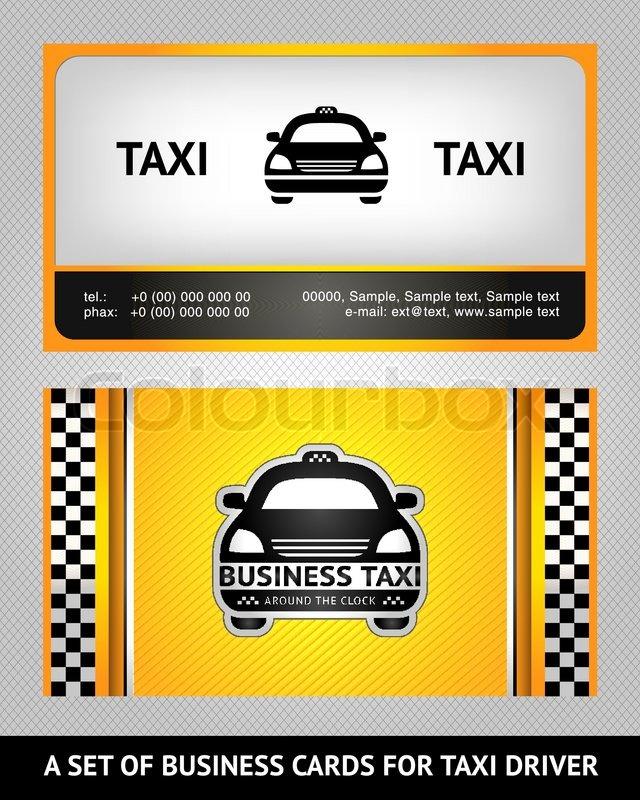 Business cards taxi set | Stock Vector | Colourbox