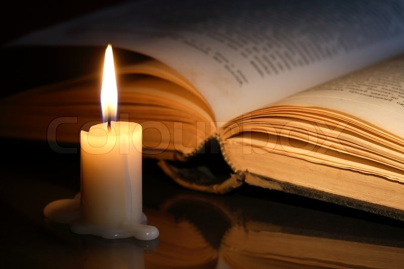 Book And Candle | Stock Photo | Colourbox