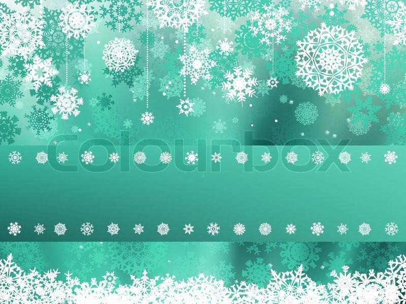 green christmas background with snowflake eps 8 stock vector colourbox