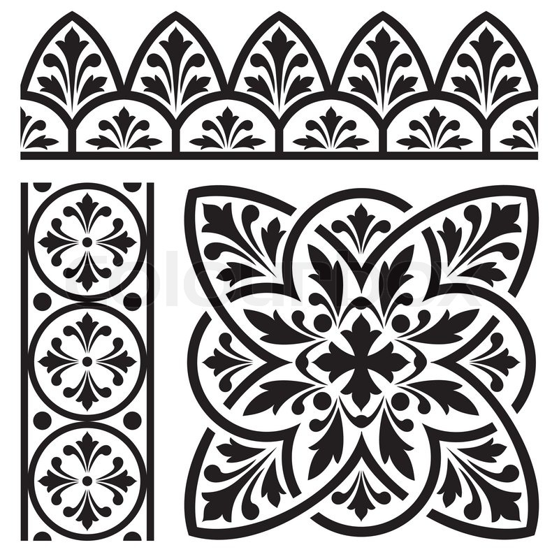 Lovely European Designs #6: Set Of Design Elements For Classic European Ornament | Stock Vector |  Colourbox