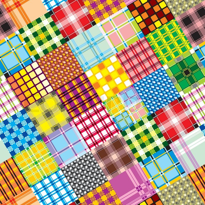 patchwork background vector seamless background of textile patchwork stock 9207