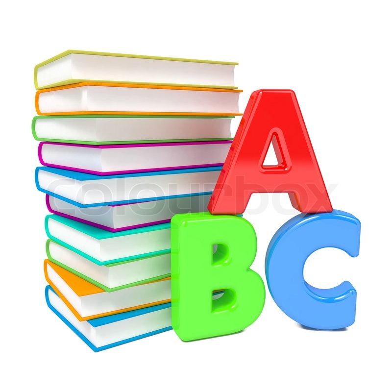 ABC Letters with Group of Books | Stock Photo | Colourbox