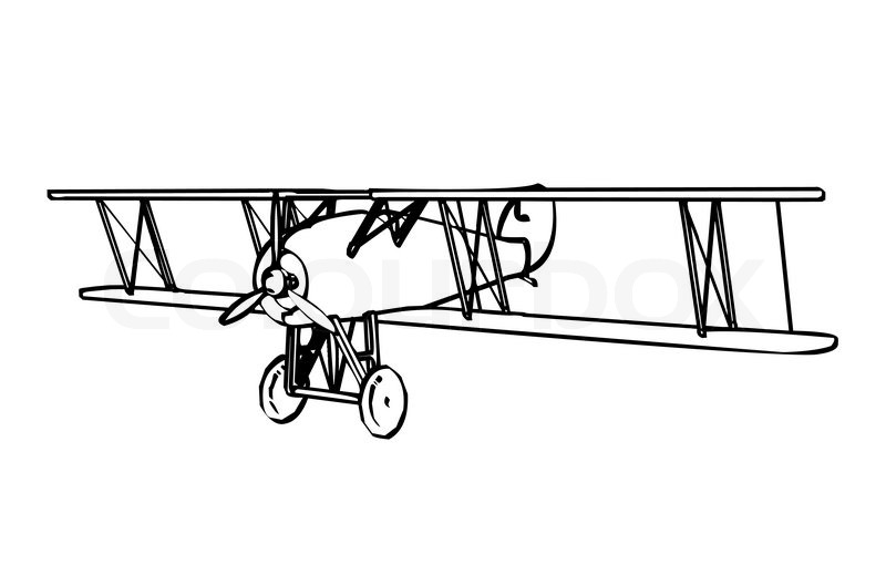 ... : Biplane Silhouette Clip Art , Biplane Clipart , Airplane Outline