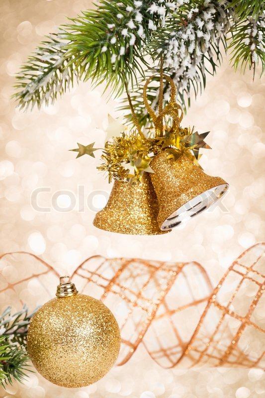weihnachten glocken gegen licht stock foto colourbox. Black Bedroom Furniture Sets. Home Design Ideas