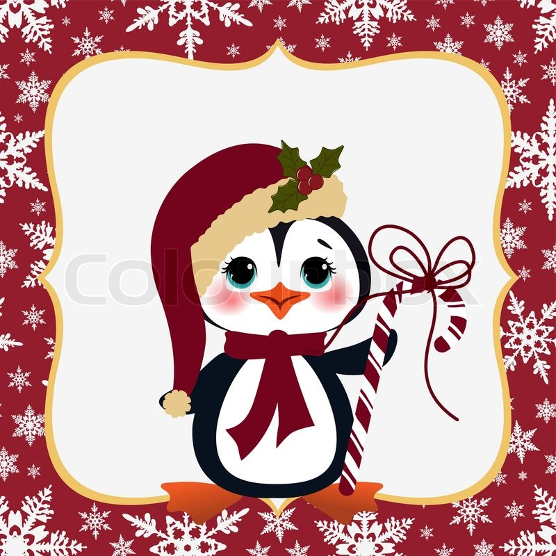 cute christmas new year postcard template stock vector colourbox