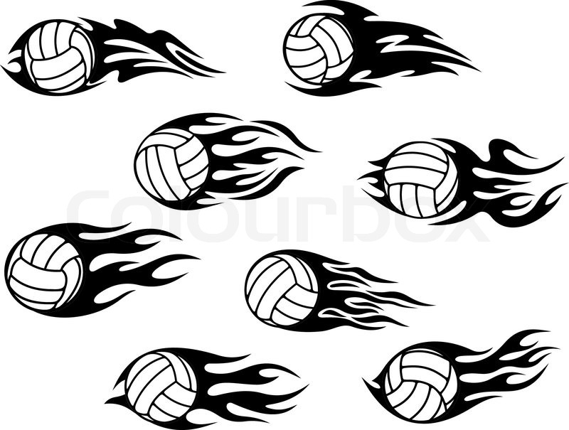 Stock Illustration Volleyball Tribal Abstract Vector: Volleyball Sports Tattoos