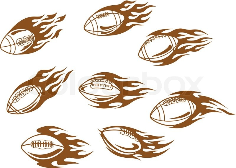Rugby And Football Tattoos Stock Vector Colourbox