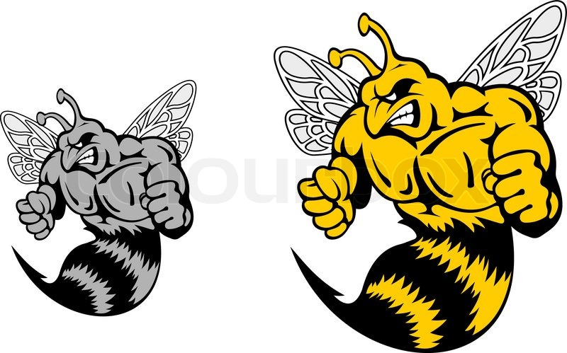 Angry Hornet Or Yellow Jacket Mascot Stock Vector Colourbox