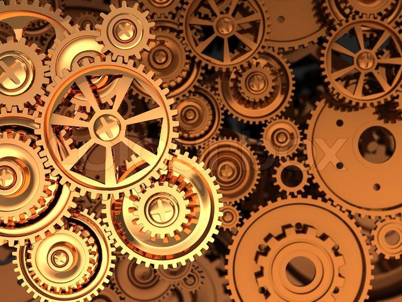 golden gears stock photo colourbox