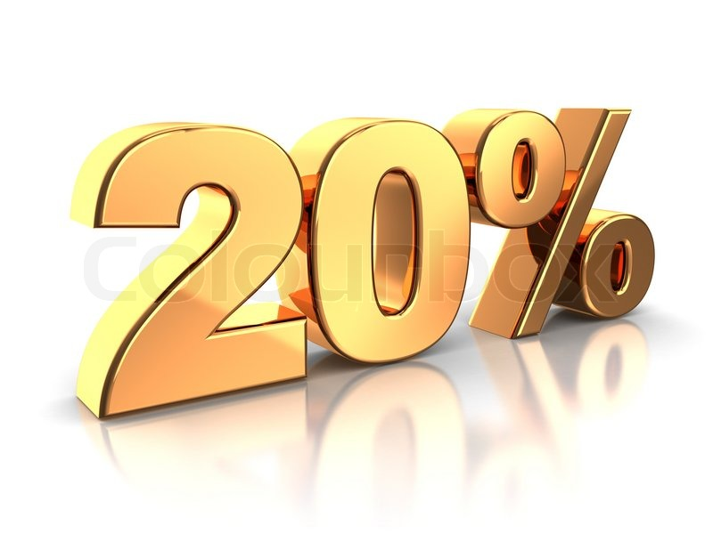 how to find 20 percent