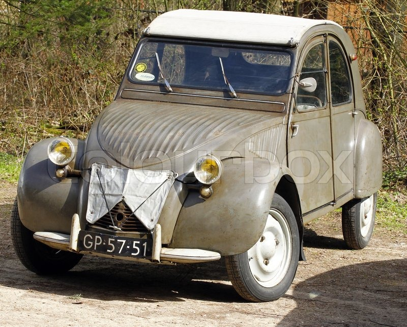 Editorial image of 'Old citroen deux chevaux'