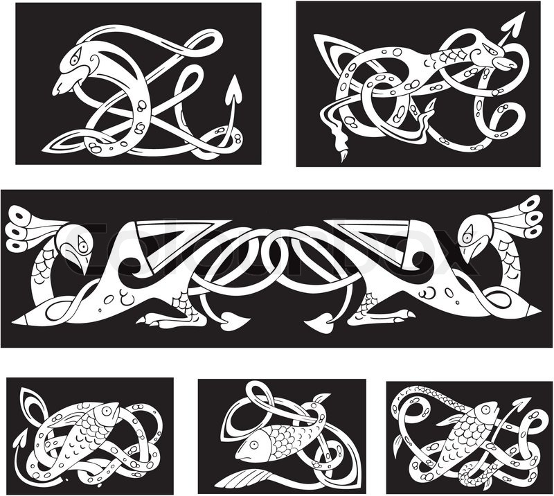 Animalistic celtic knot patterns stock vector colourbox for Irish mail cart plans