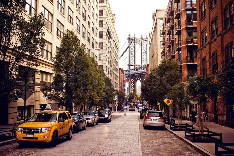 Manhattan Bridge From Washington Street Stock Photo Colourbox