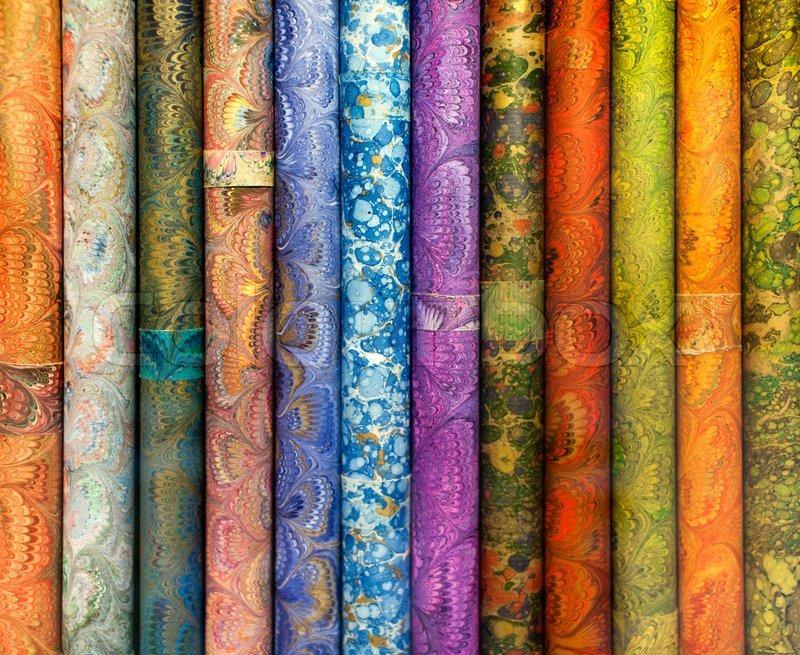 Geschenkpapier Rollen | Stockfoto | Colourbox