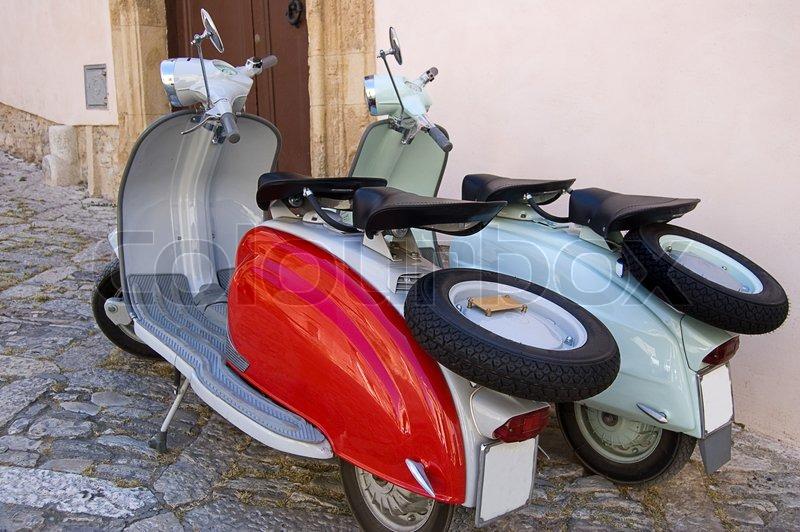 Vespa Scooter Old Model
