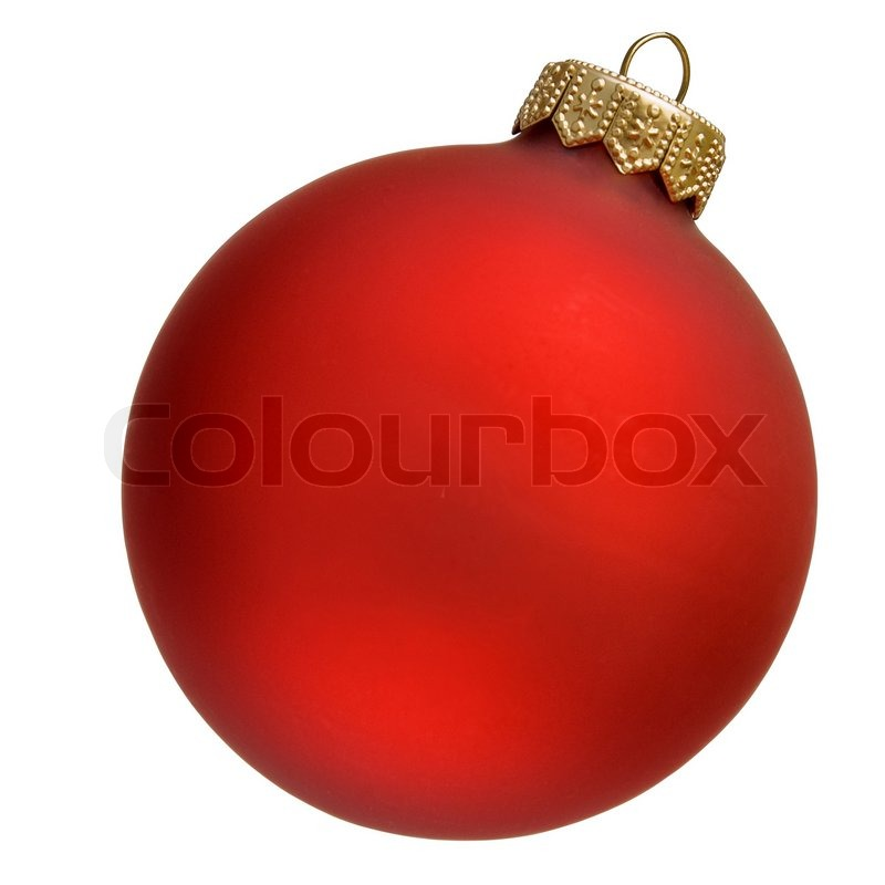 Red christmas ornament | Stock Photo | Colourbox