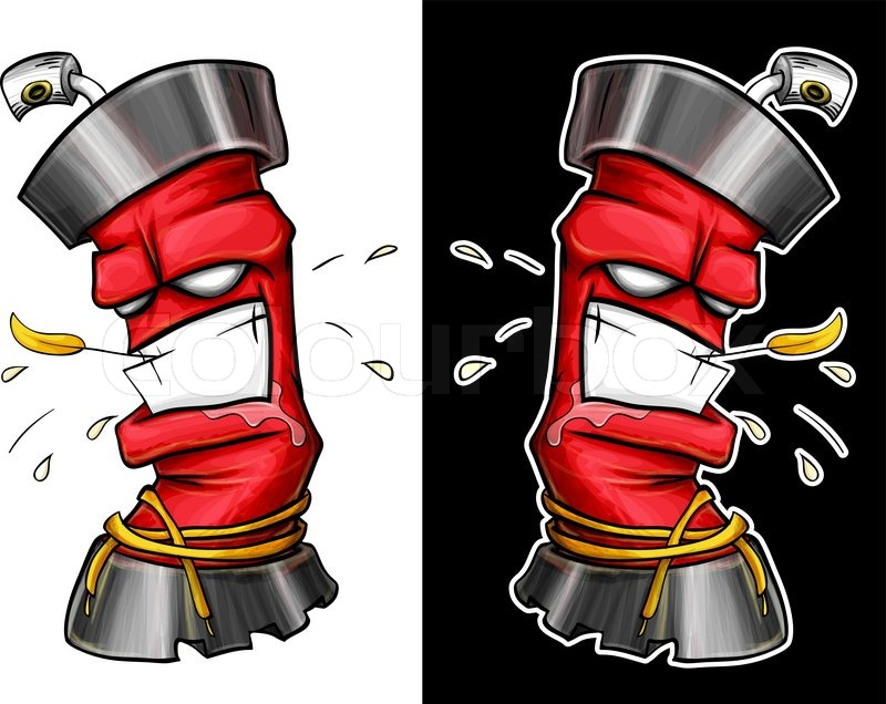graffiti spray stock vector colourbox