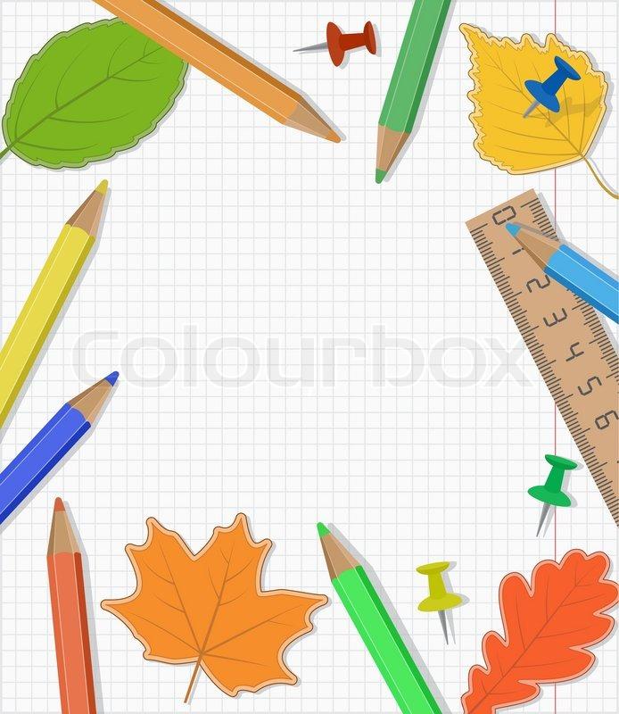 Zur ck zu schule template design stock vektor for Schule design