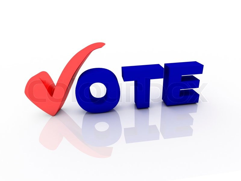Vote Text With Check Mark Stock Photo Colourbox