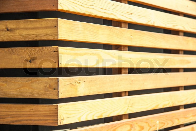 Wall Of Wood wall of wood panels | stock photo | colourbox