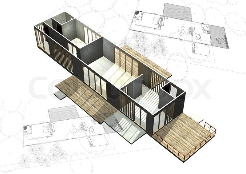 housing architecture plans stock photo colourbox