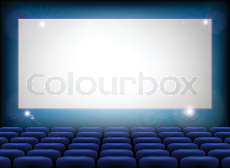 Cinema Empty Screen With Space For Your Text Here