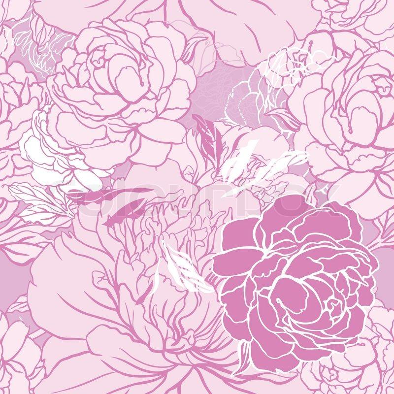 Beautiful Peony Seamless Pattern Design
