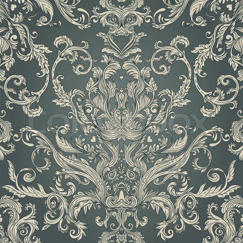 Bettwasche Barock Muster ~ Nahtlose vintage barock muster vektorgrafik colourbox