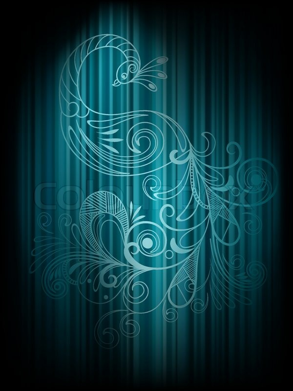 vector background with peacock
