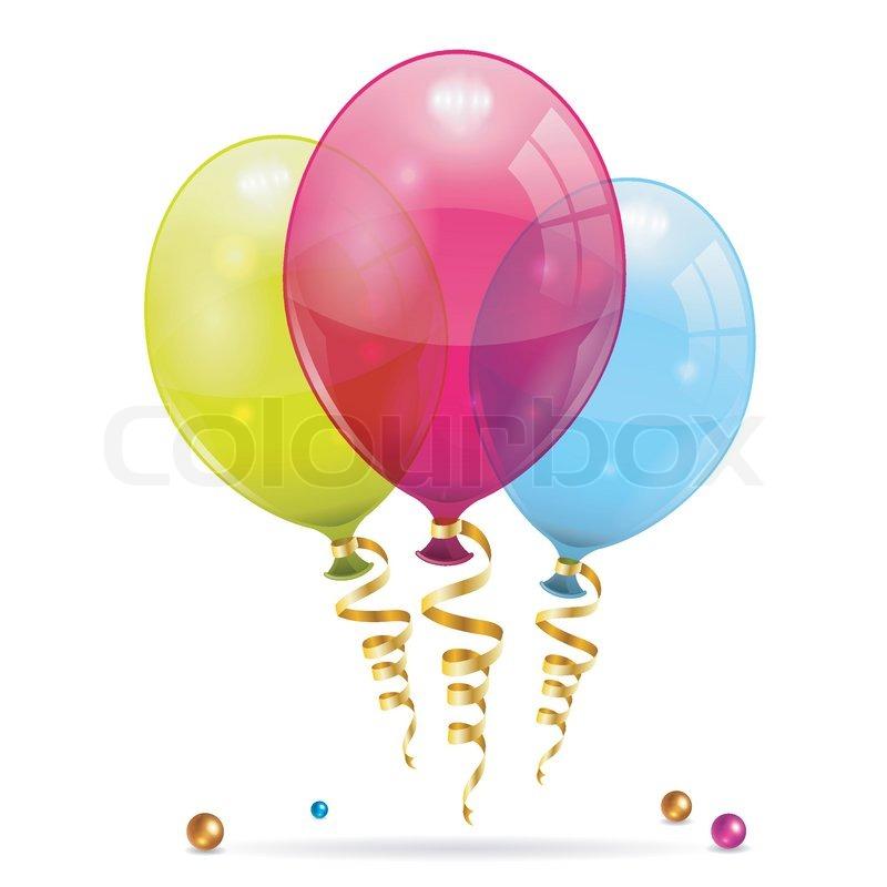Birthday Balloons Images Part - 28: Birthday Balloons, Vector