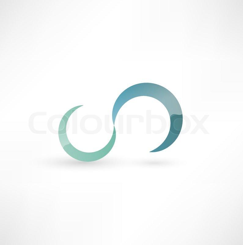 infinity symbol stock vector colourbox