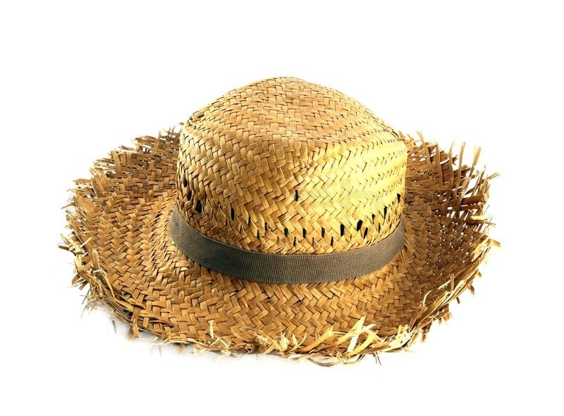 Straw hat on white background | Stock Photo