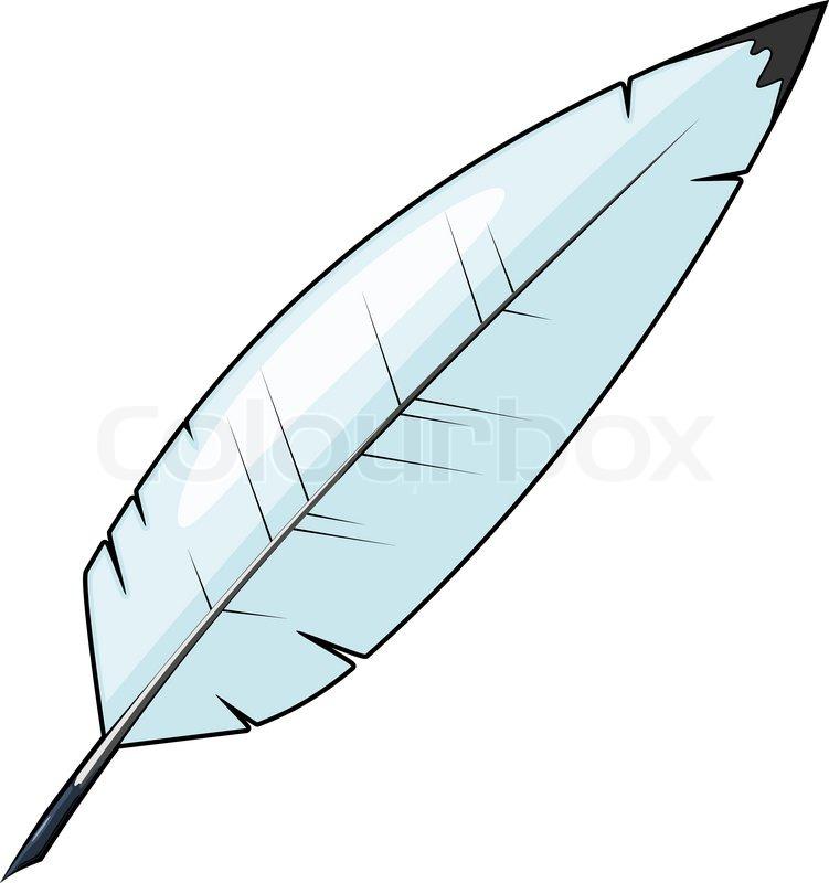 Cartoon Feather For Writing Vector Colourbox