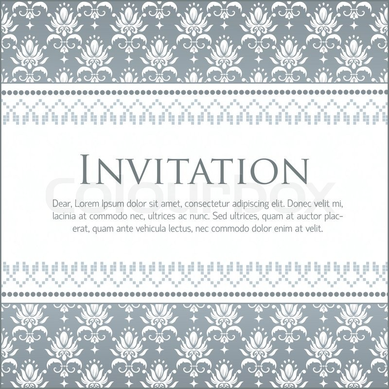 Vector invitation card with pattern stock vector colourbox stopboris Image collections
