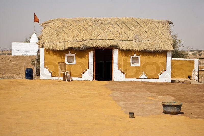 Indian Village Stock Photo Colourbox