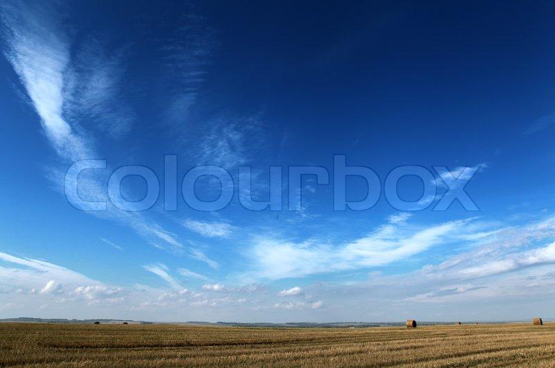 Dark blue sky, stock photo