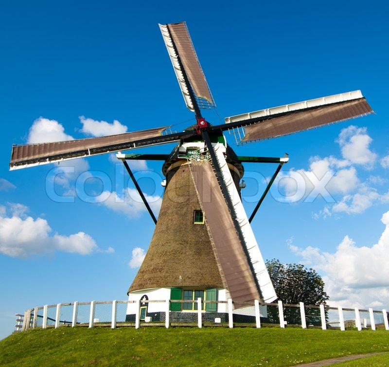 Dutch Windmill Stock Photo Colourbox
