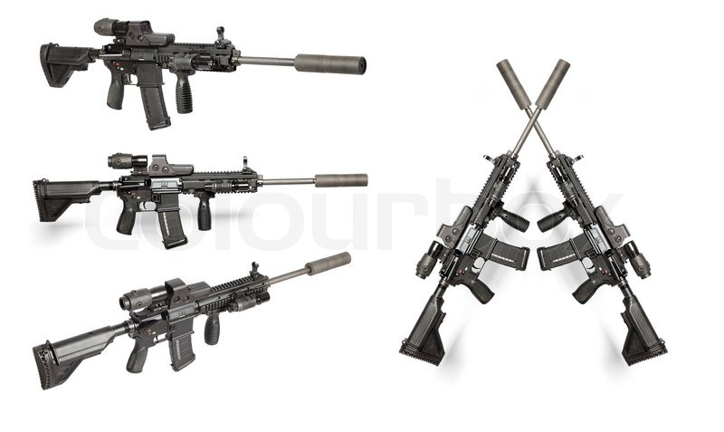 Royalty Free M4 Clip Art, Vector Images & Illustrations ...  Crossed Guns M4