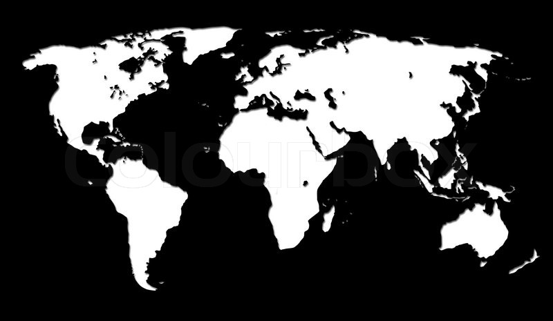White world map on black background stock photo colourbox gumiabroncs Gallery