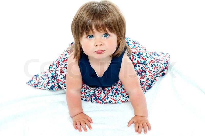 Adorable Baby Girl Crawling  Stock Image  Colourbox-5887