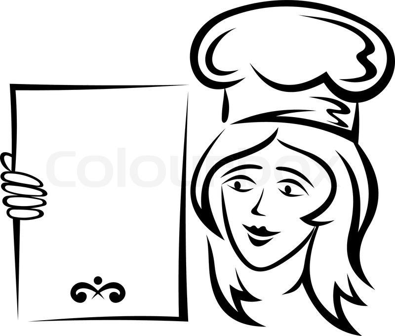Blank Menu Design Waiter with blank menu