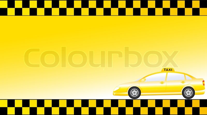 Business card with glossy modern taxi car and space for text stock business card with glossy modern taxi car and space for text stock vector colourbox reheart Images