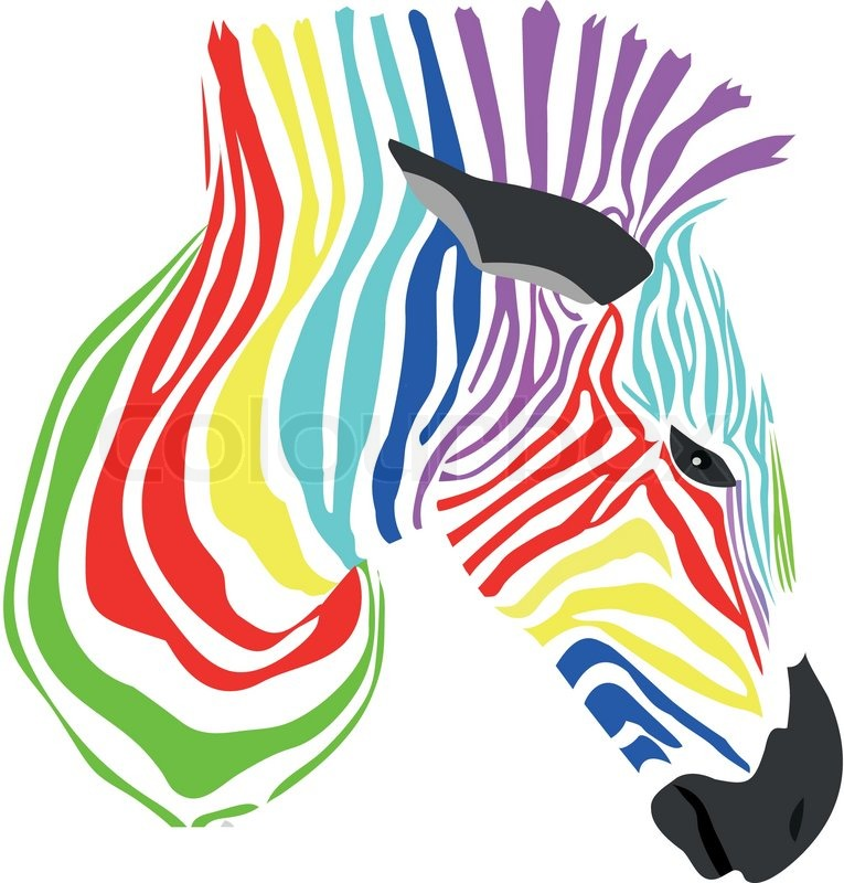 Colorful Zebra | Stock Vector | Colourbox