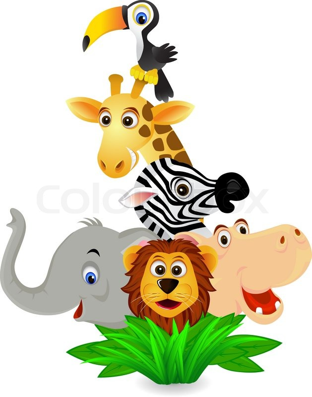 animal cartoon stock vector colourbox rh colourbox com funny animal faces clipart free funny animal clipart